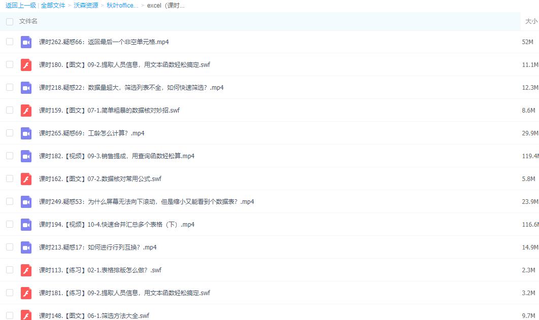 【价值 399 元】秋叶 office 办公视频教程(Word+Excel+PPT)免费分享  百度云网盘下载