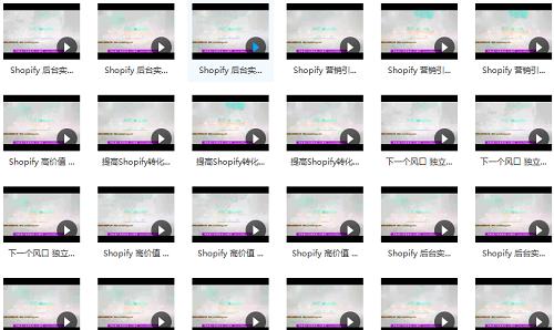 最新 shopify 开店视频教程百度云下载(建站必备)