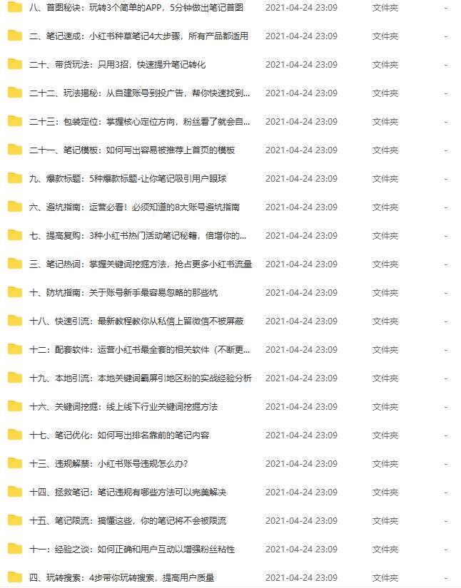 小红书教程引流推广视频运营课程(百度云)