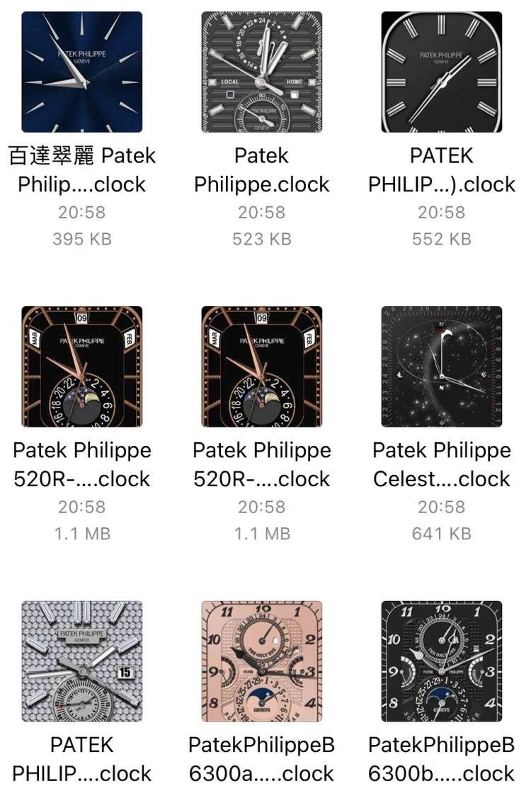 苹果手表 iwatch 表盘下载(安装教程+精品图片)