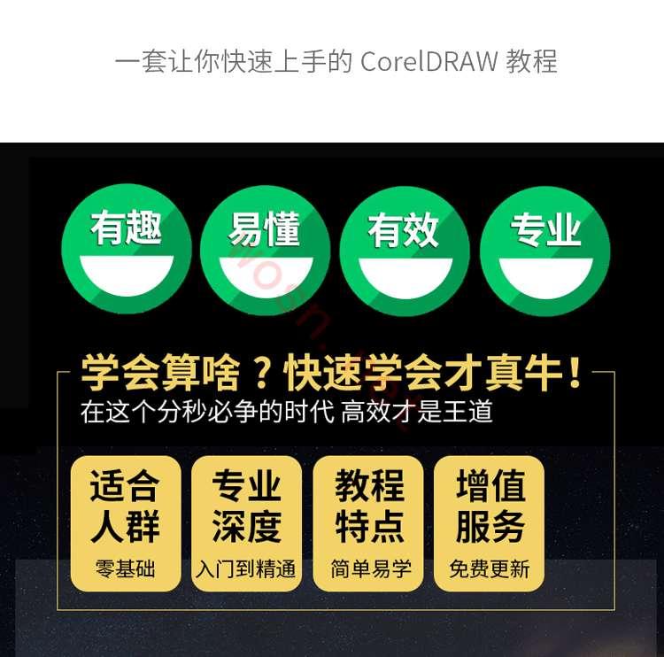 CDR 自学视频教程下载 百度网盘 (入门到精通)